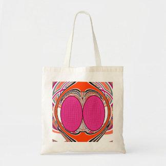 Orange pink superfly design tote bags