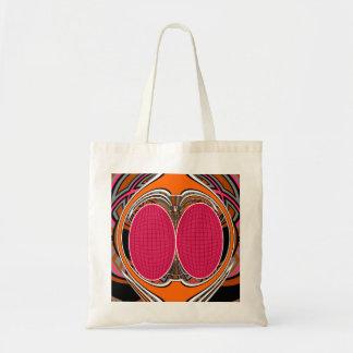 Orange pink superfly design canvas bags