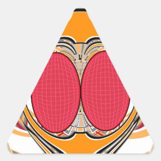 Orange pink superfly design stickers