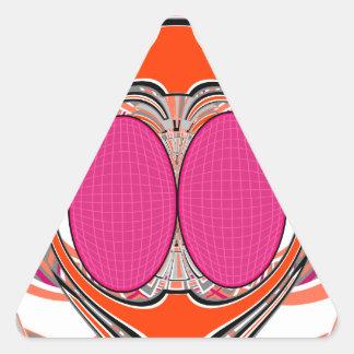 Orange pink superfly design sticker