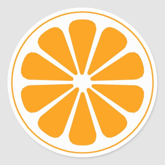 orange pinwheel round sticker