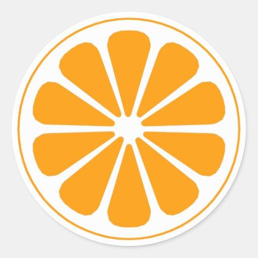 orange pinwheel sticker