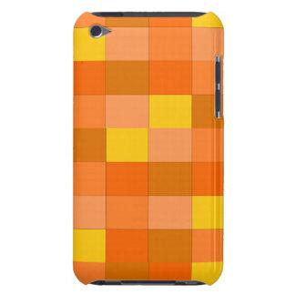 orange plaid ipod touch case