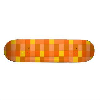 orange plaid skateboard