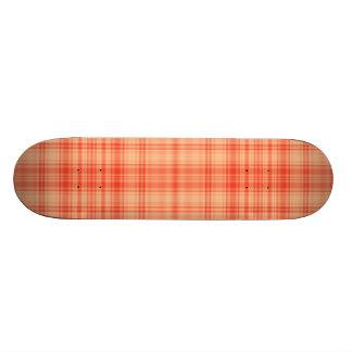 Orange Plaid Skateboard Decks