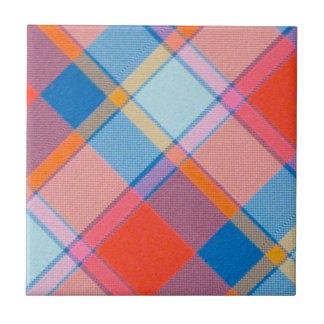 Orange Plaid Tile