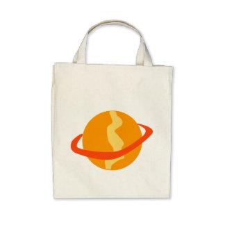 Orange Planet Canvas Bag
