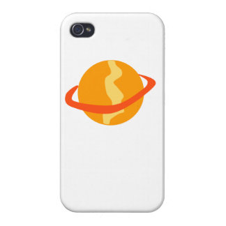 Orange Planet Cover For iPhone 4