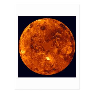 Orange Planet Postcard