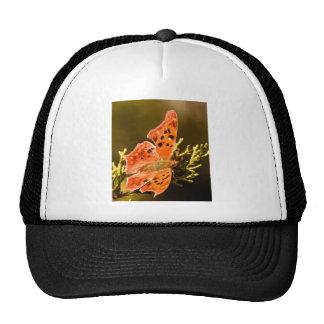 Orange Polka Dot Butterfly Trucker Hats