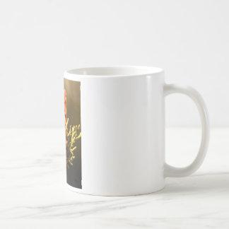 Orange Polka Dot Butterfly Coffee Mug