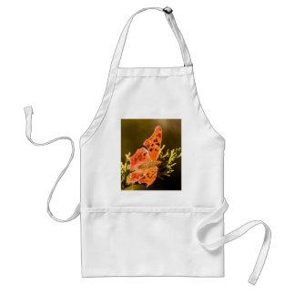Orange Polka Dot Butterfly Standard Apron