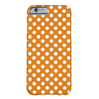 Orange Polka Dot Barely There iPhone 6 Case