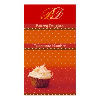 Orange Polka Dot Cupcake Business Cards