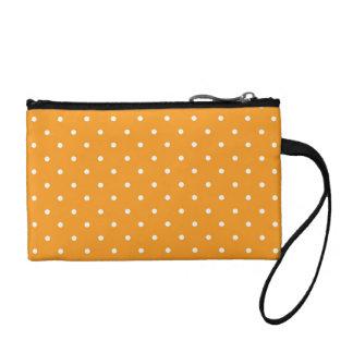 Orange Polka Dot Design Change Purses