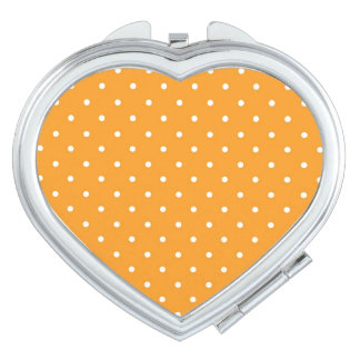 Orange Polka Dot Design Compact Mirrors