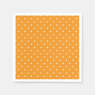 Orange Polka Dot Design Disposable Serviette
