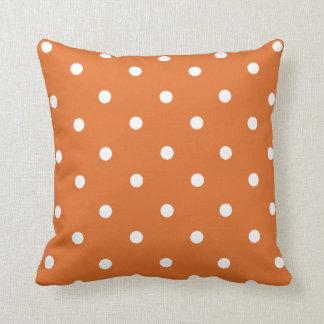 Orange Polka Dot Home Decor Throw Pillow