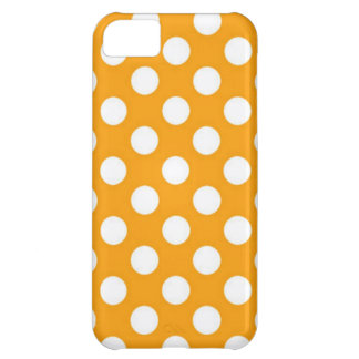 Orange Polka Dot iPhone 5C Case