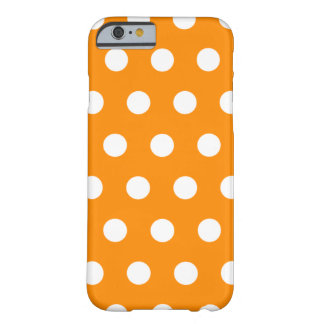 Orange Polka Dot iPhone 6 case Barely There iPhone 6 Case