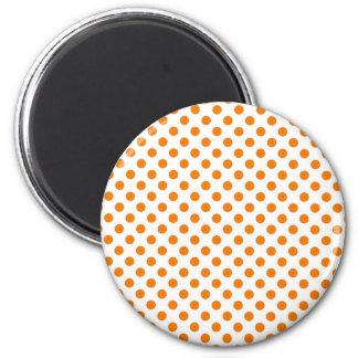 Orange Polka Dot Magnet