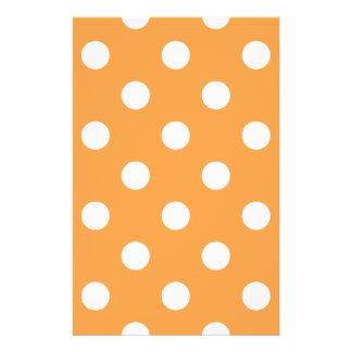 Orange Polka Dot Pattern 14 Cm X 21.5 Cm Flyer
