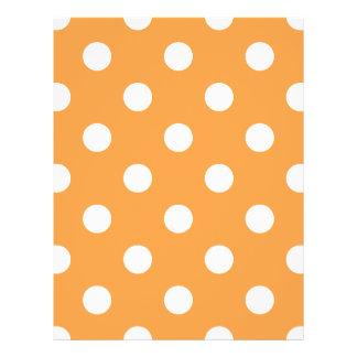 Orange Polka Dot Pattern 21.5 Cm X 28 Cm Flyer