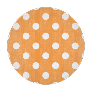 Orange Polka Dot Pattern Cutting Board