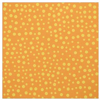 Orange Polka Dot Pattern Fabric