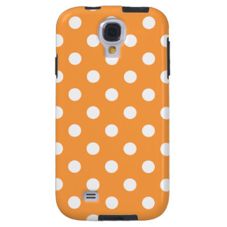 Orange Polka Dot Pattern Galaxy S4 Case