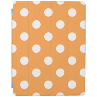 Orange Polka Dot Pattern iPad Cover