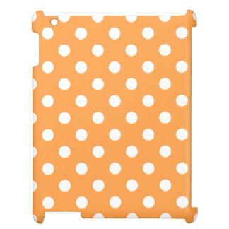 Orange Polka Dot Pattern iPad Covers