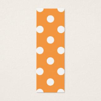 Orange Polka Dot Pattern Mini Business Card
