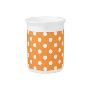 Orange Polka Dot Pattern Pitcher