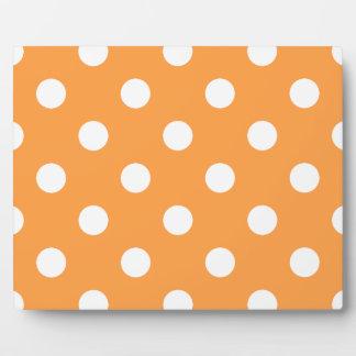 Orange Polka Dot Pattern Plaque