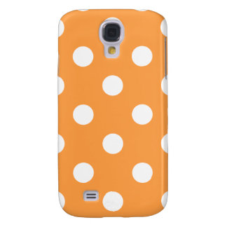 Orange Polka Dot Pattern Samsung Galaxy S4 Case