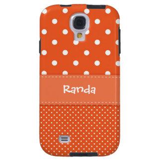 Orange Polka Dot Samsung Galaxy S4 Case