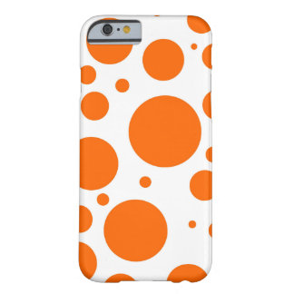 orange polka dots - abstract pattern design fun barely there iPhone 6 case