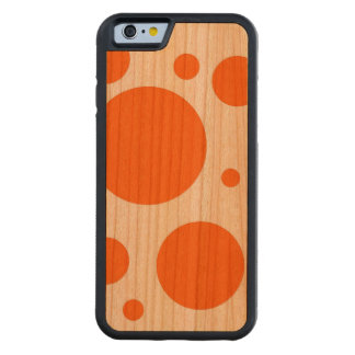 orange polka dots - abstract pattern design fun cherry iPhone 6 bumper