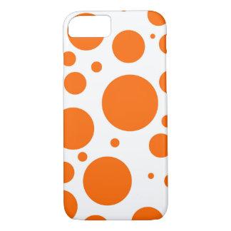 orange polka dots - abstract pattern design fun iPhone 7 case
