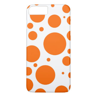 orange polka dots - abstract pattern design fun iPhone 7 plus case