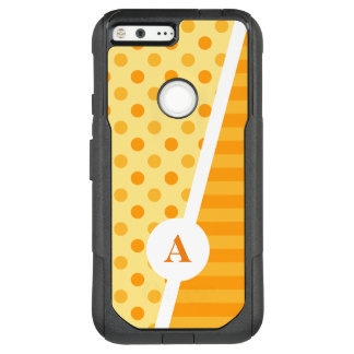 Orange Polka Dots and Stripes OtterBox Commuter Google Pixel XL Case