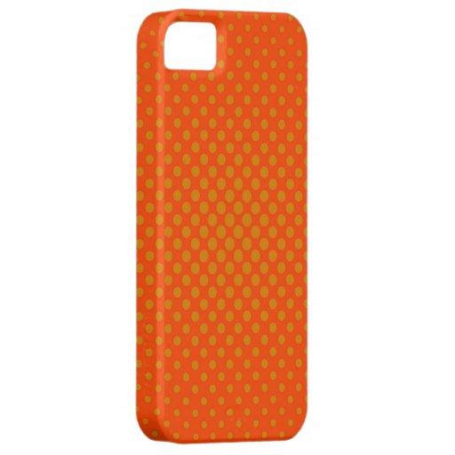 Orange Polka Dots iPhone 5 Cover