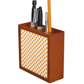 Orange Polka Dots Desk Organiser
