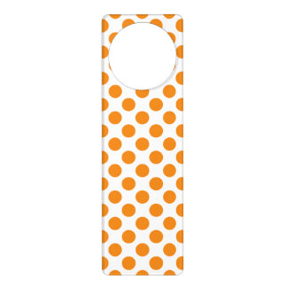 Orange Polka Dots Door Hanger