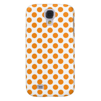 Orange Polka Dots Galaxy S4 Case