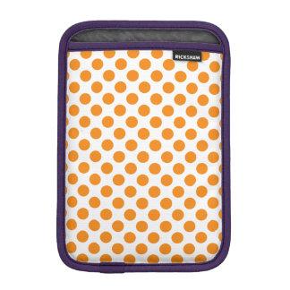 Orange Polka Dots iPad Mini Sleeve