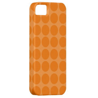 Orange Polka Dots iPhone Case Case For The iPhone 5