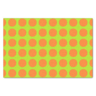 Orange Polka Dots Lime Green Tissue Paper