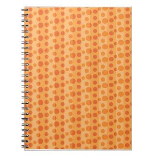 Orange Polka Dots Note Books